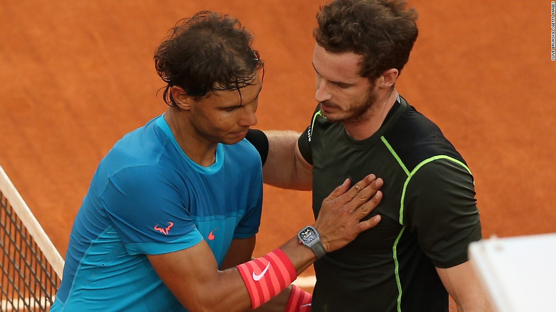 Nadal suffered an upset loss to Canada's Milos Raonic at Indian Wells in March but worse was to come in May. On his favored surface, he was crushed at home by Andy Murray, pictured.
