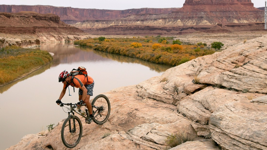 Utah, home of the White Rim Trail in Canyonlands National Park, moved up three spots in 2015 to No. 5.