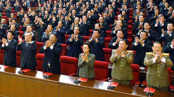 PYONGYANG, NORTH KOREA - SEPTEMBER 28: (JAPAN OUT) In this photo released by Korean Central News Agency via Korean News Service, Workers