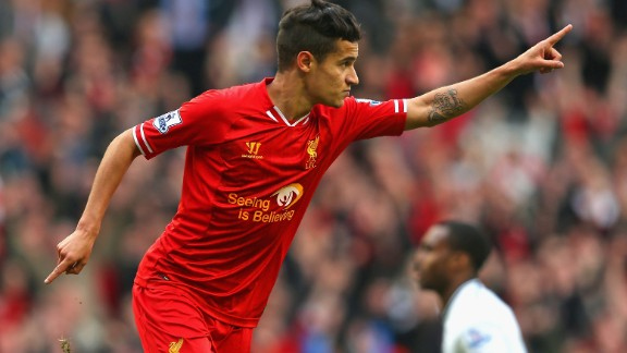 Coutinho has eight goals for Liverpool this season, overtaking his tally of five from last term with three games of the season still left to play.