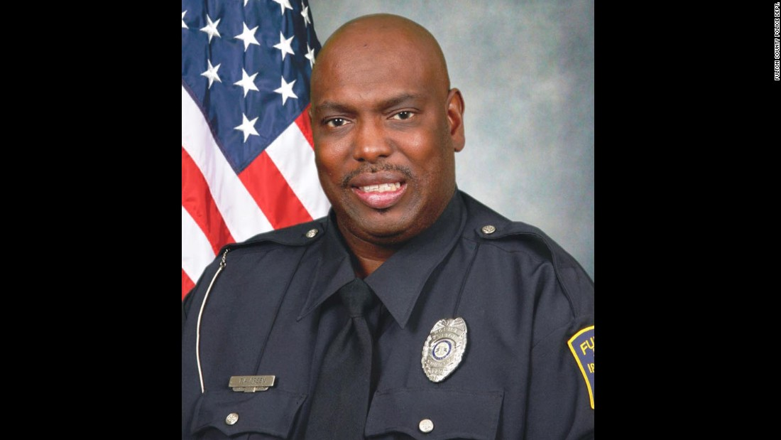 "Veteran Fulton County Police Detective Terence Green was killed in the line of duty in the early hours of March 4. He was <a href=""http://www.cnn.com/2015/03/05/us/georgia-officer-killed/"" target=""_blank"">shot in the head</a> while searching a neighborhood after reports of gunfire. Green, 48, had served as an officer for more than two decades."