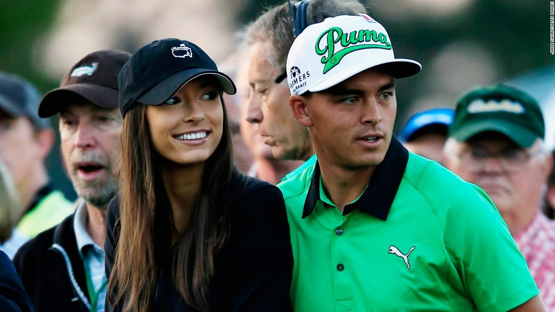 Randock is a bikini model and was delighted with her boyfriend's victory at TPC Sawgrass.