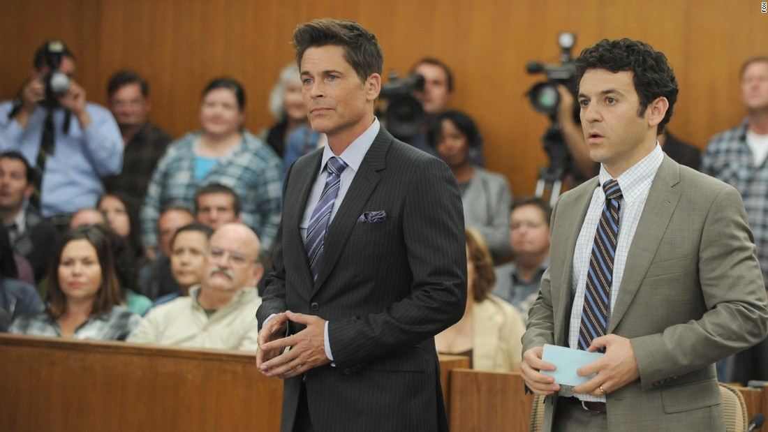 "Rob Lowe, center, stars in two new comedies this fall. In Fox's ""The Grinder,"" he plays a TV lawyer who tries doing the real thing, opposite his brother, the real attorney, played by Fred Savage. It will air Tuesdays at 8:30 p.m. on Fox."
