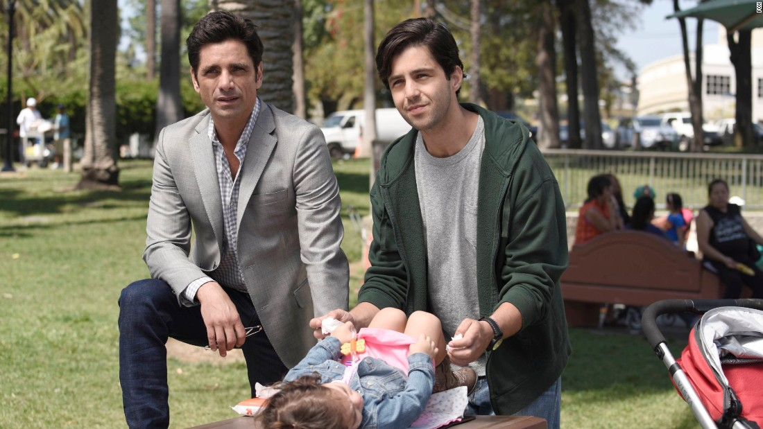 "John Stamos is back on TV (when he's not doing the Netflix ""Full House"" revival) on ""Grandfathered"" as a bachelor who is surprised to learn he has two generations of kids. It airs Tuesdays at 8 p.m. on Fox."