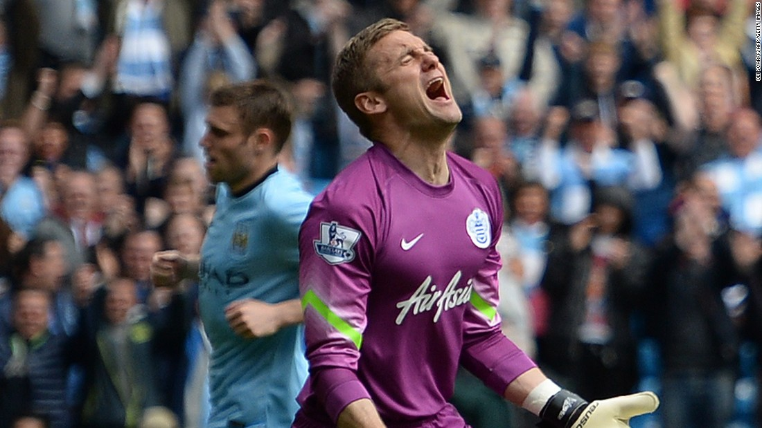 Six goals are too much to bear for QPR goalkeeper Robert Green as his side are relegated from the Premier League.