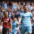 Aguero penalty celebration QPR