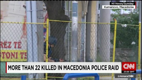 Violence in Macedonia leaves 22 dead