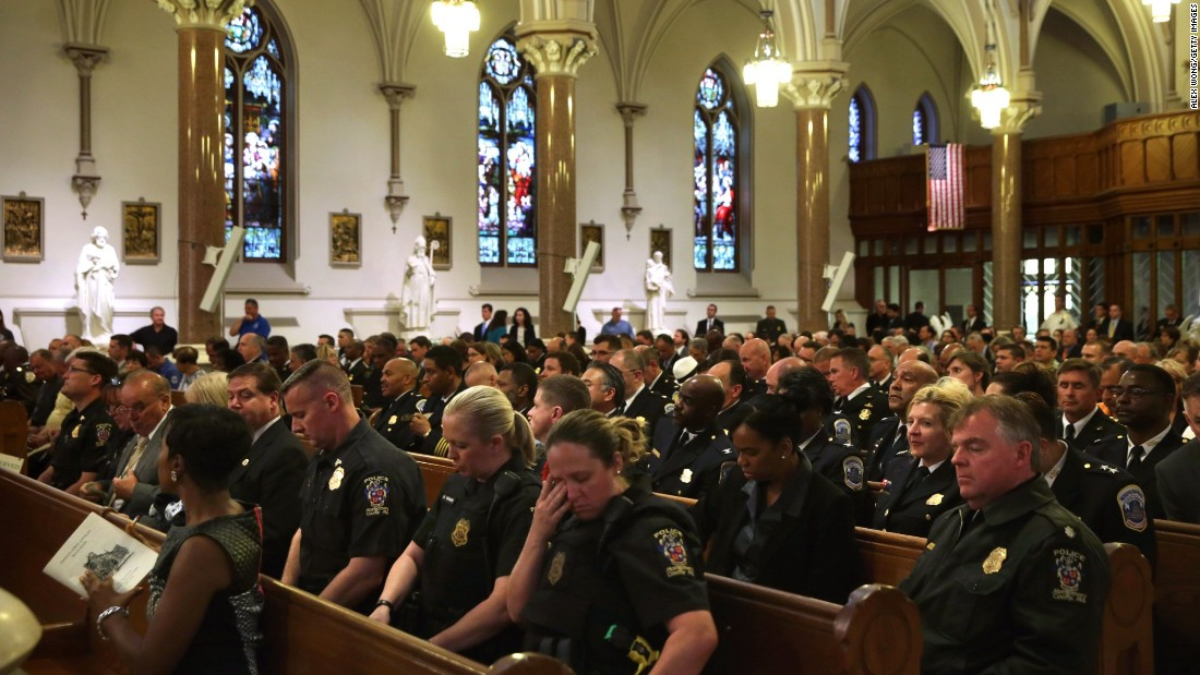 Law enforcement representatives attend the Blue Mass on May 5.