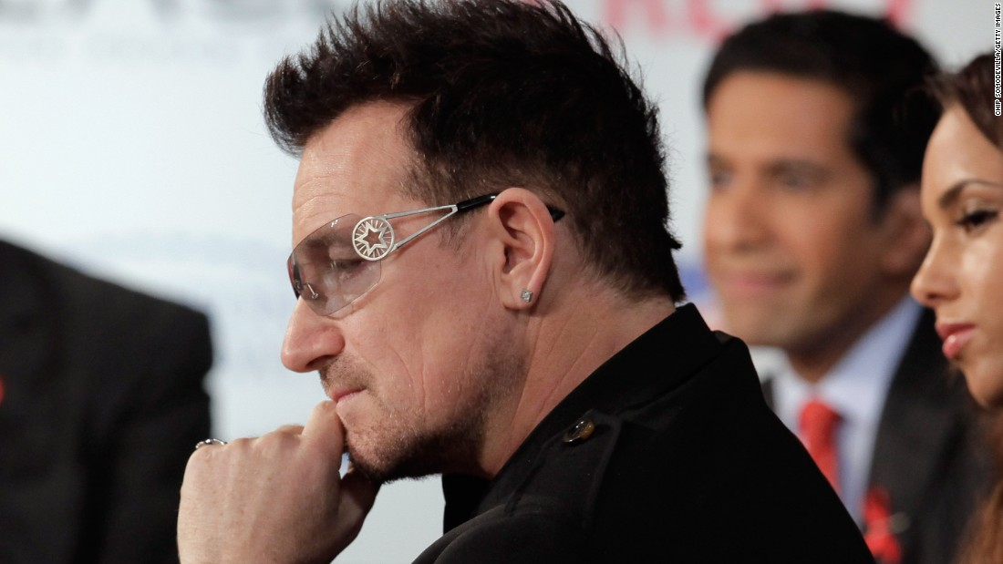 "In 2002, U2 front man Bono created <a href=""http://www.one.org/international/"" target=""_blank"">the ONE Campaign</a> to end global poverty and has successfully rallied support from world leaders."
