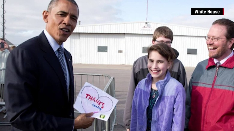 South Dakota Obama visit white house girl letter heartbroken meeting _00013029