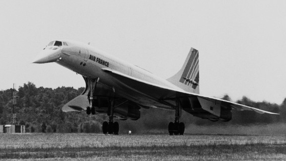 It broke the sound barrier and cut flight times in half. On January 21, 1976, the first commercial Concorde flight took place from London to Paris, cruising at speeds of 1,350 mph. The Concordes