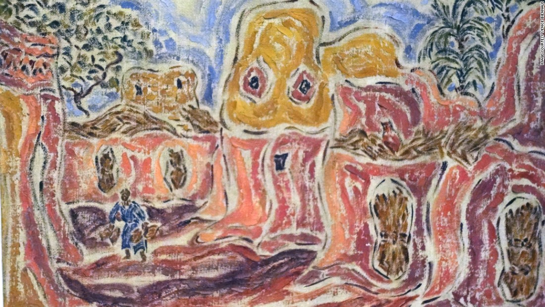 <em>Inji Effaltoun, Village. Oil on canvas</em><br /><br />A celebrated artist during her lifetime, Effaltoun has left an incredible impact on Egyptian art. She spent her career merging the arts and political activism -- a theme that is constantly documented in her work. <br />