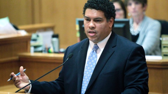 District Attorney Ismael Ozanne of Dane County, Wisconsin, speaks in a Madison courtroom.