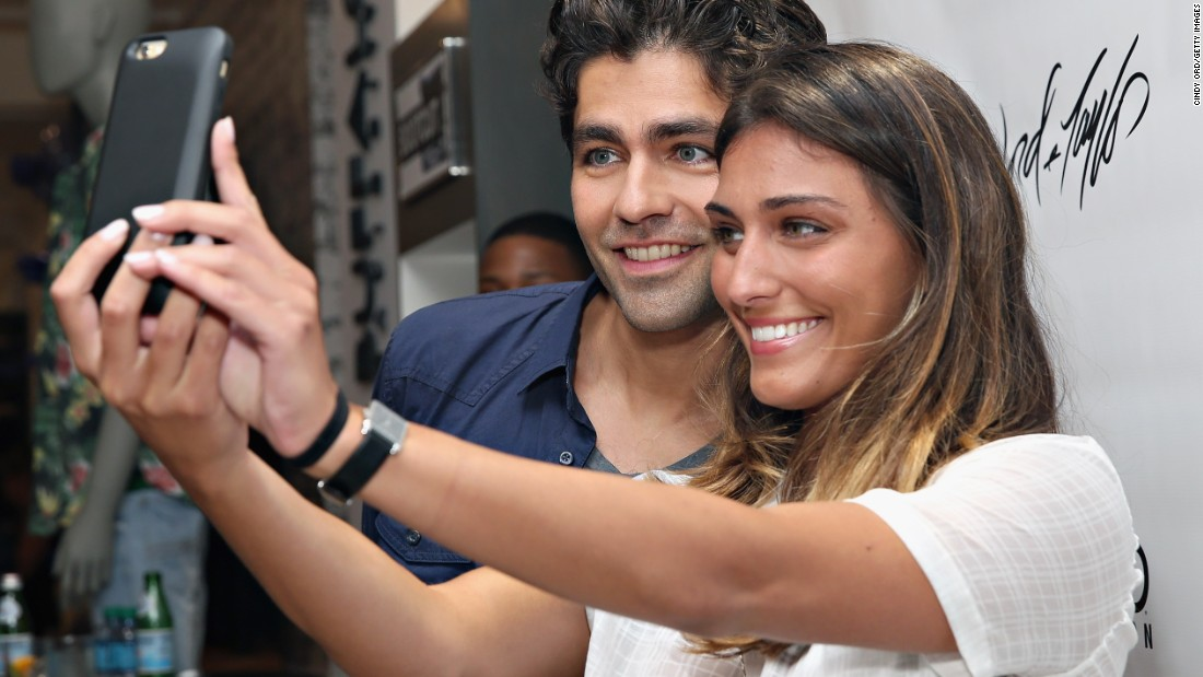 Actor Adrian Grenier poses for a selfie at the Lord & Taylor department store in New York on Monday, May 11.