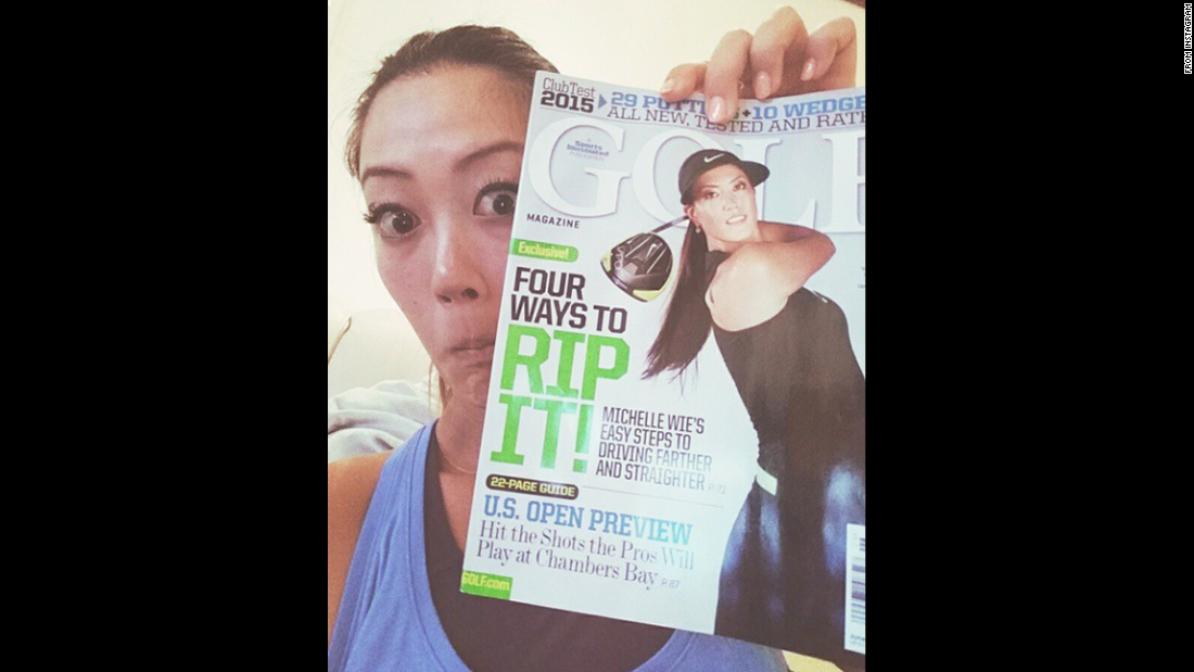 """Someone just got their @si_golf June issue in the mail. Did y'all get yours?"" <a href=""https://instagram.com/p/2dkLhdJ-pO/"" target=""_blank"">said golfer Michelle Wie</a> on Saturday, May 9."