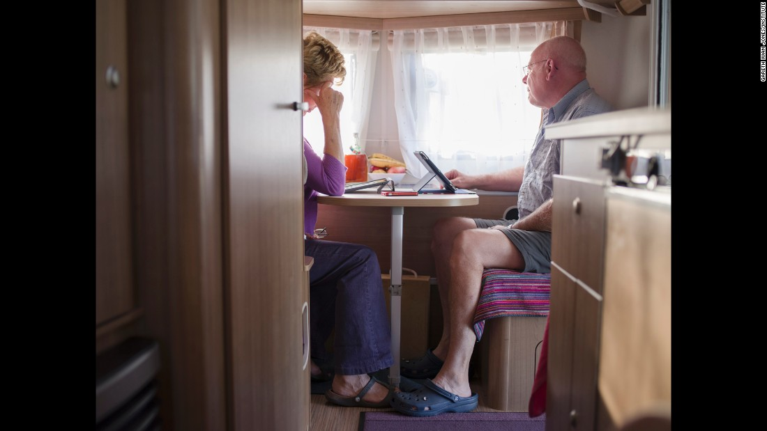 """There are certain elements of (caravanning) that lend itself quite nicely to family time,"" photographer Gareth Iwan Jones said. ""There's definitely a lot of family bonding that goes on in caravans. Big family groups that go out together, two or three generations doing it at once."""