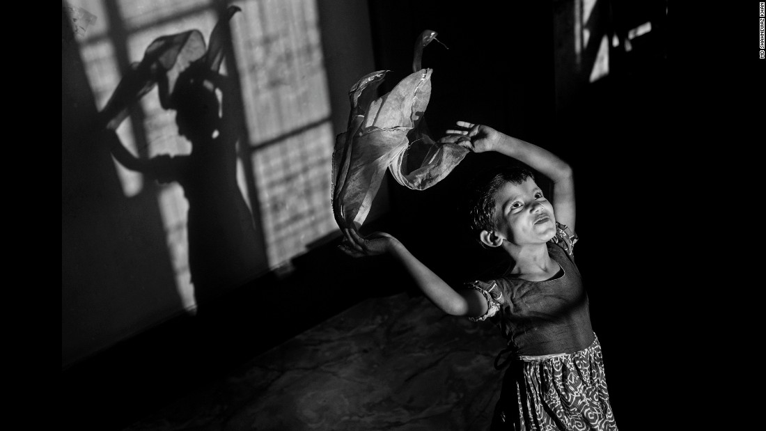 Poli, 6, works at a home in Chittagong.