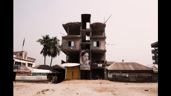 A school under construction.