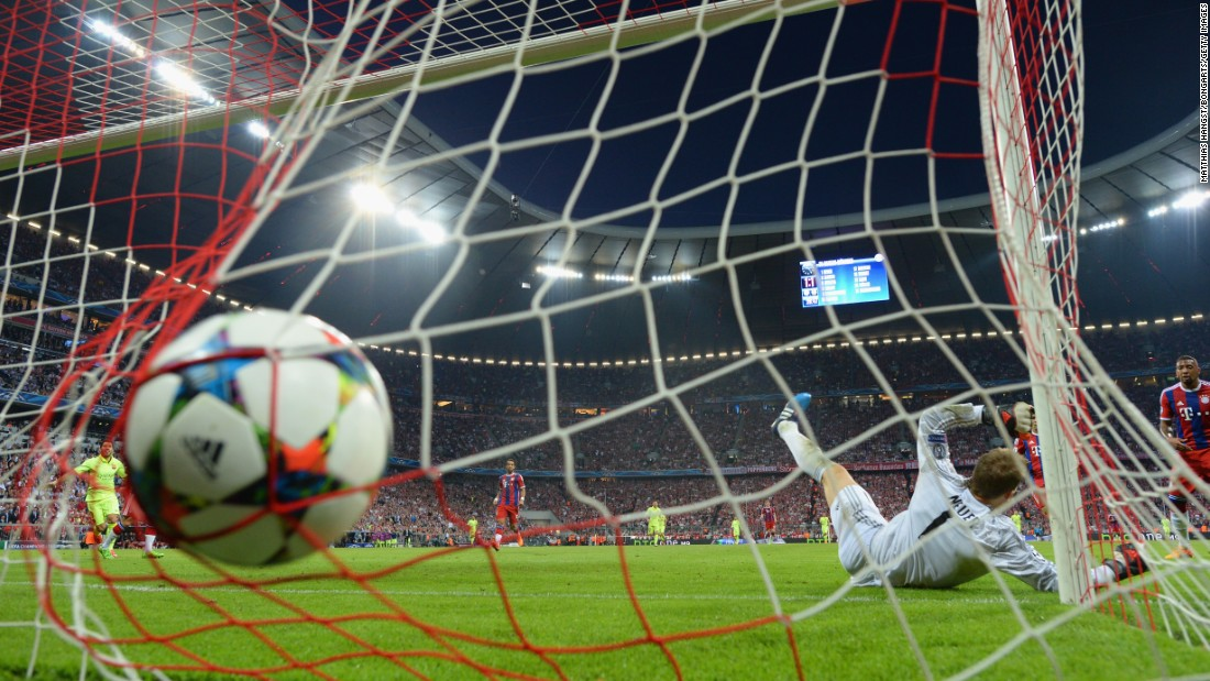 Bayern keeper Manuel Neuer was beaten at his near post for that second goal but at the other end ...