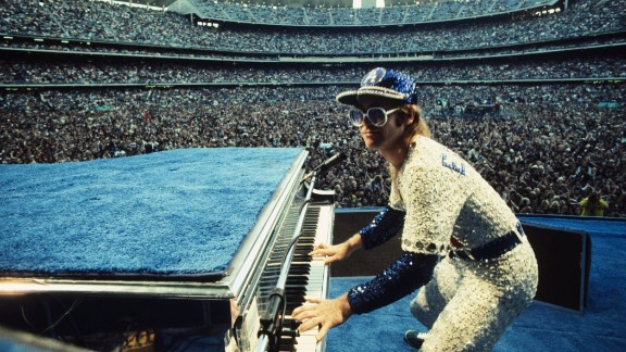 English singer Elton John, one of the biggest artists of the