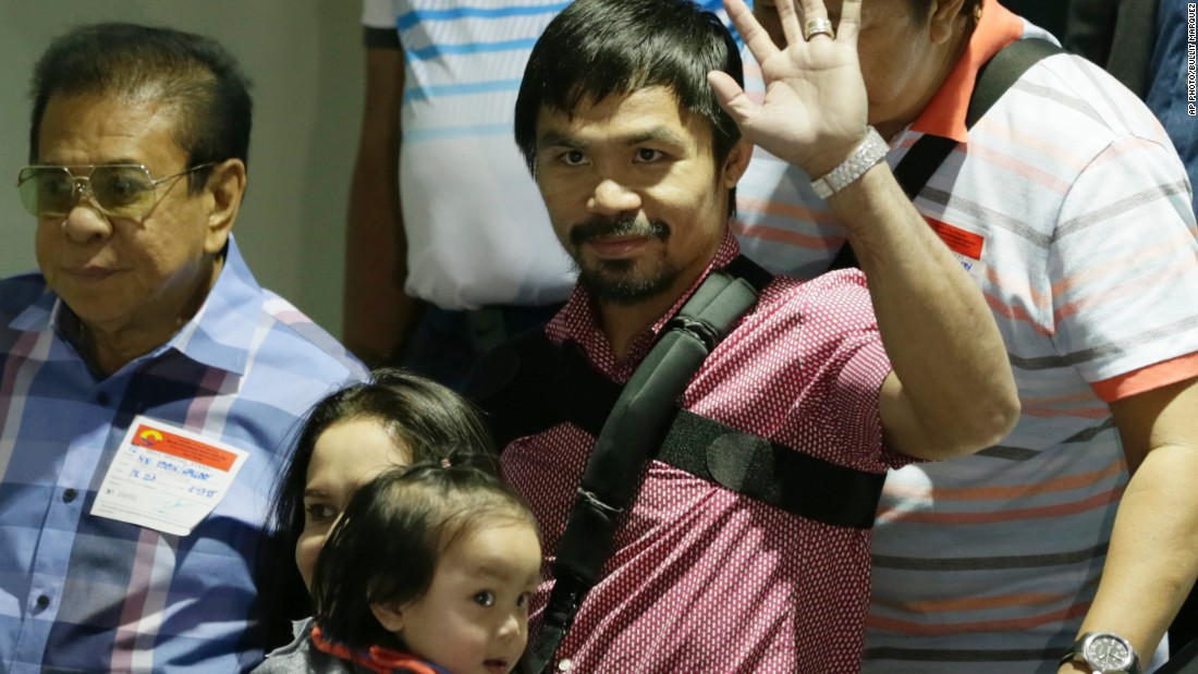 Manny Pacquiao's $160m haul took him from 11th last year to second this time.