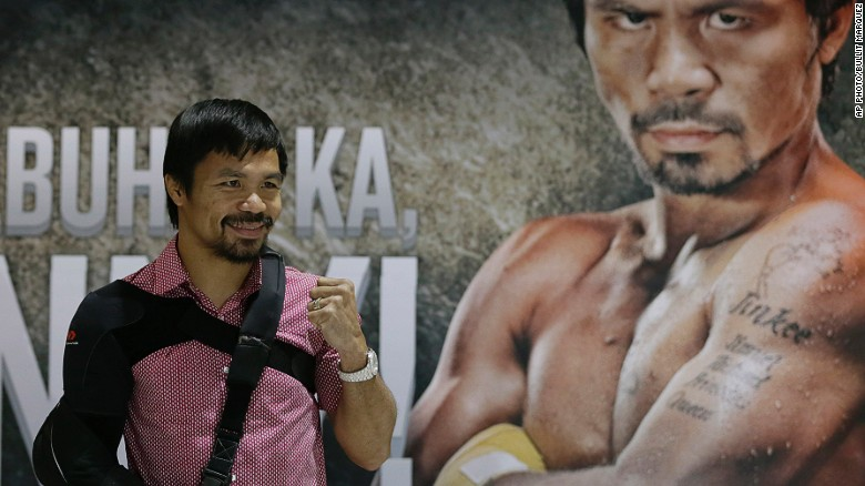Pacquiao returns to Manila