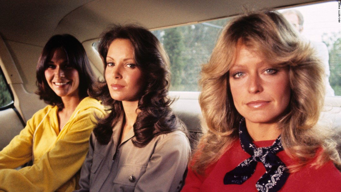 "From left, Kate Jackson, Jaclyn Smith and Farrah Fawcett played a trio of private detectives known as ""Charlie's Angels"" in an ABC TV movie on March 21, 1976. Their series of the same name debuted that September. The show was part of a trend at ABC, along with ""Three's Company"" and the ""The Love Boat,"" criticized by an NBC executive as ""jiggle TV"" -- shows built around the sex appeal of young women in revealing outfits."