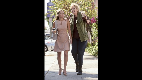 """Glee"" star Jane Lynch, right, comes to CBS as a ""brassy"" self-described guardian angel in ""Angel from Hell."""