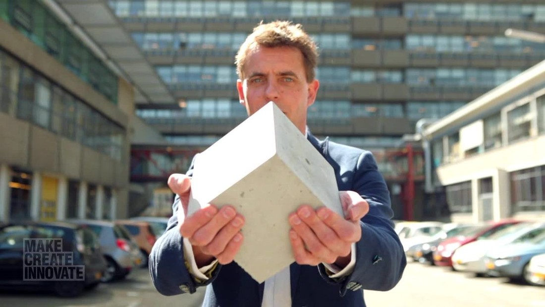 Henk Jonkers, of Delft University of Technology, in the Netherlands, has designed a new type of concrete that can fix its own cracks.