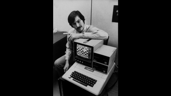 In 1977, Apple Computers introduced the Apple II, which became one the first successful home computers. Co-founders Steve Jobs, pictured here, and Steve Wozniak formed the Apple Computer Company in 1976. Along with Bill Gates