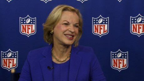 Dr. Betsy Nabel was named NFL Chief Health and Safety Adviser in February. She spoke to the media for the first time Tuesday at NFL headquarters in New York.