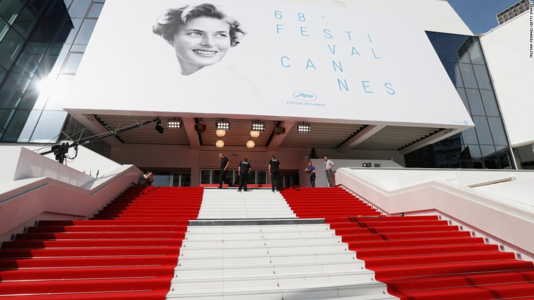"MAY 13 -- CANNES, FRANCE: The red carpets await the feet of global celebrities ahead of the 68th annual Cannes Film Festival. The festival will open with Emmanuelle Bercot's ""Standing Tall""-- only the second opener to be directed by a woman."