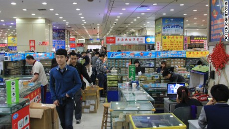 Shenzhen is home to Huaqiang Electronics World, where traders sell the circuit boards, LEDs, bolts and screws that go into the world's electronic gadgets.
