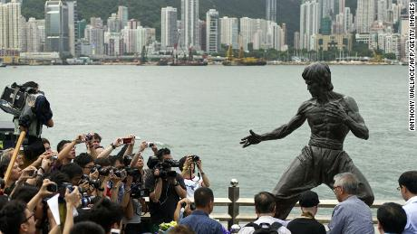 Bruce Lee, hailed as a hero by many in China, is honored with a statue in Hong Kong. Some Chinese discriminated against him because of his Eurasian heritage.