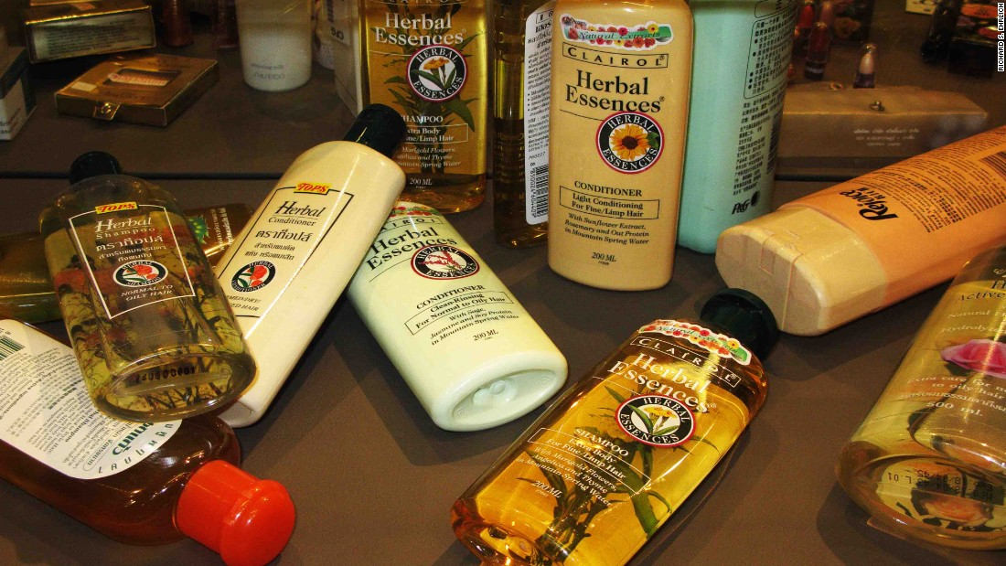 Consumers are often unable to detect fake goods, such as these popular hair products, displayed in the Museum of Counterfeit Goods at the Tilleke & Gibbins law firm in Bangkok.