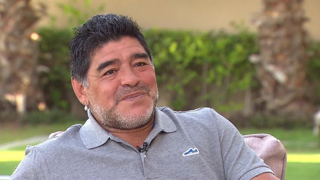 Maradona was interviewed by CNN anchor Becky Anderson.