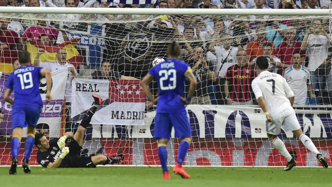 Cristiano Ronaldo (right) had given Real hope of overturning a 2-1 first-leg deficit when his first-half penalty put the home side ahead on away goals.