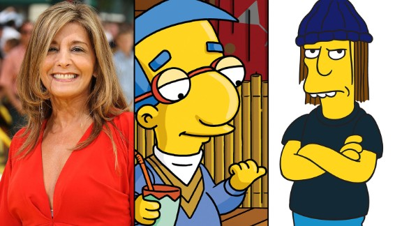 Pamela Hayden gives voice to two boys on opposite ends of the charm spectrum: Milhouse Van Houten and Jimbo Jones. She
