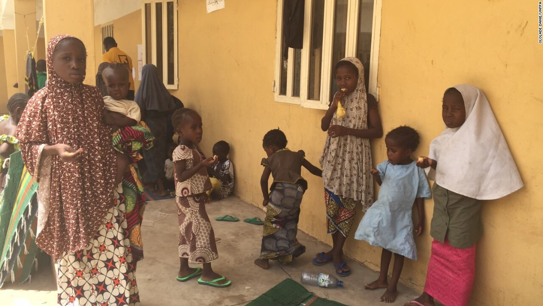 Over 200 women and children were rescued from the Sambisa Forest in April by the Nigerian army. They were being held by Boko Haram, an extremist militant group. <em>Photo by Ololade Danie/UNFPA.</em>