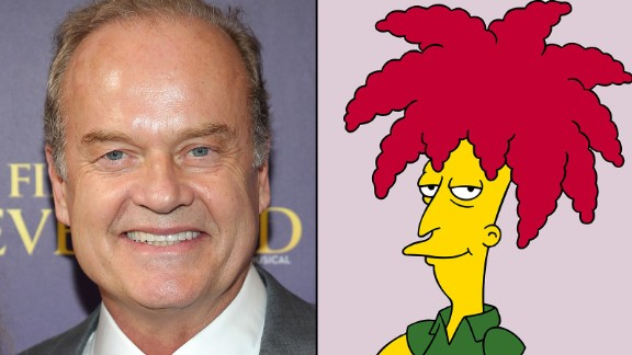 The urbane tones of Kelsey Grammer provide the wit and glory of Sideshow Bob, who's been known to sing a Gilbert & Sullivan operetta or two.