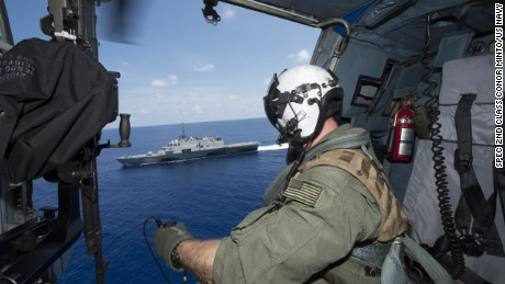 The USS Fort Worth in the South China Sea last year.