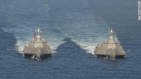 美国海军真正意义上的军舰第四次坠毁