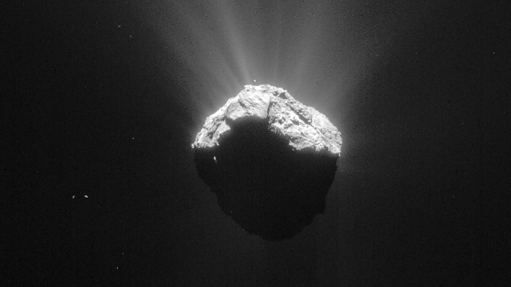 This image of Comet 67P/Churyumov-Gerasimenko was taken on April 15, 2015.