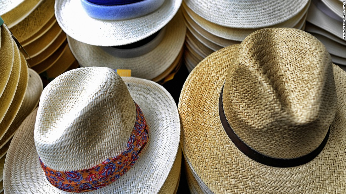 Fashion runs side-by-side with the racing, including these rather fetching Panama hats.