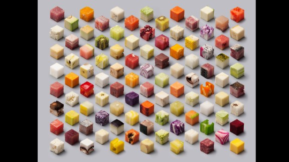 Artists Lernert Engelberts and Sander Plug made this food-themed image for a Dutch newspaper.