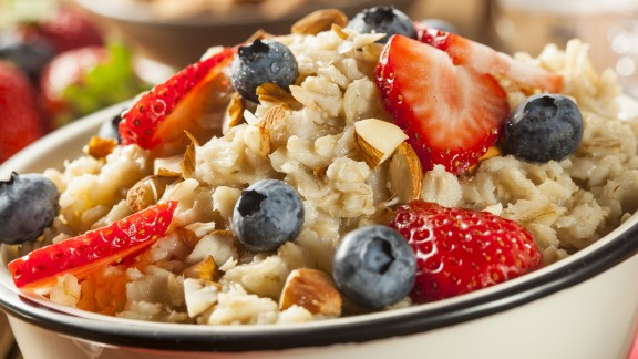 Oatmeal contains two types of fiber that work together to bulk up stool, soften it, and make it easier to pass.