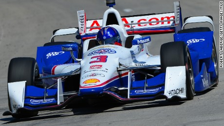 Veteran Brazilian driver Helio Castroneves races for Team Penske in the U.S. IndyCar Series.