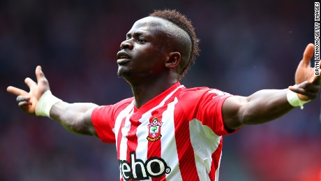 Sadio Mane completed the fastest hat-trick in English Premier League history for Southampton against Aston Villa.