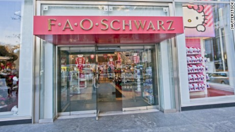 New York's famous FAO Schwarz toy store on 5th Avenue