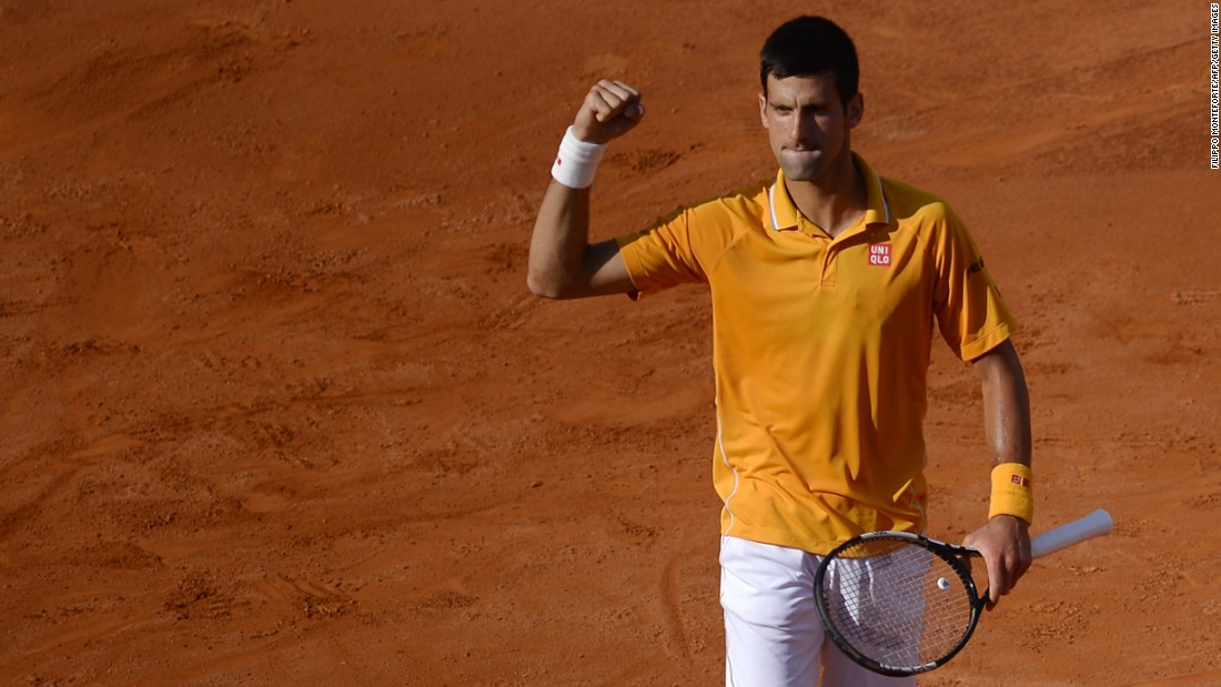 Novak Djokovic and Roger Federer faced off in final of the 2015 Rome Masters Sunday.